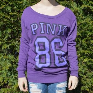 Love Pink Small Purple Sweatshirt Dress 86